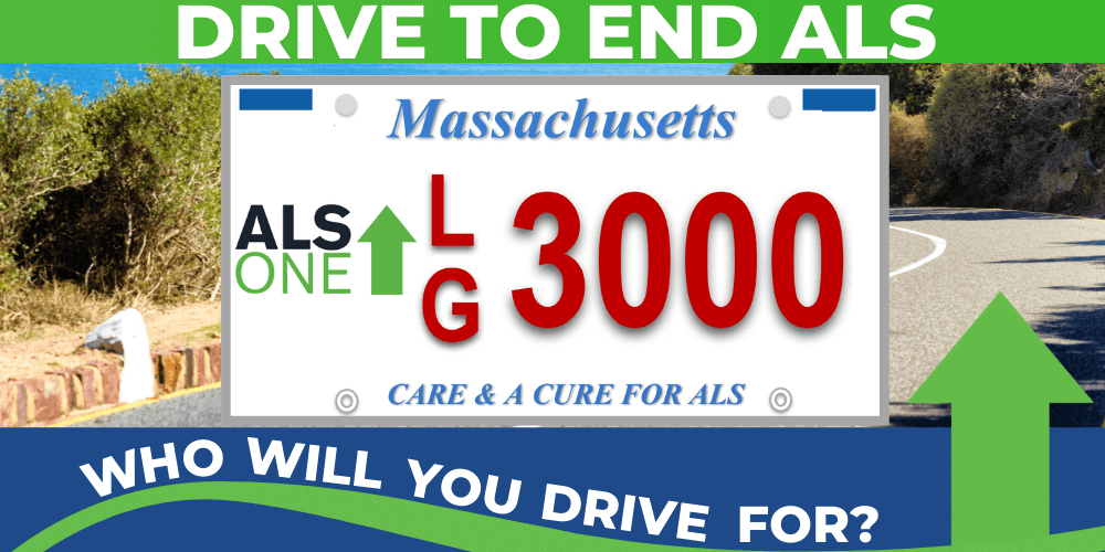 ALS ONE LICENSE PLATE